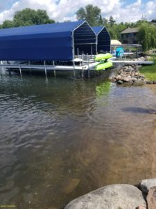 Lake weed removal services by Waterfront Restoration