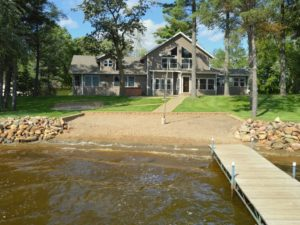Minnesota lake house with beach